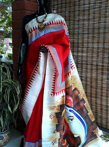 Pure handloom Bengal silk