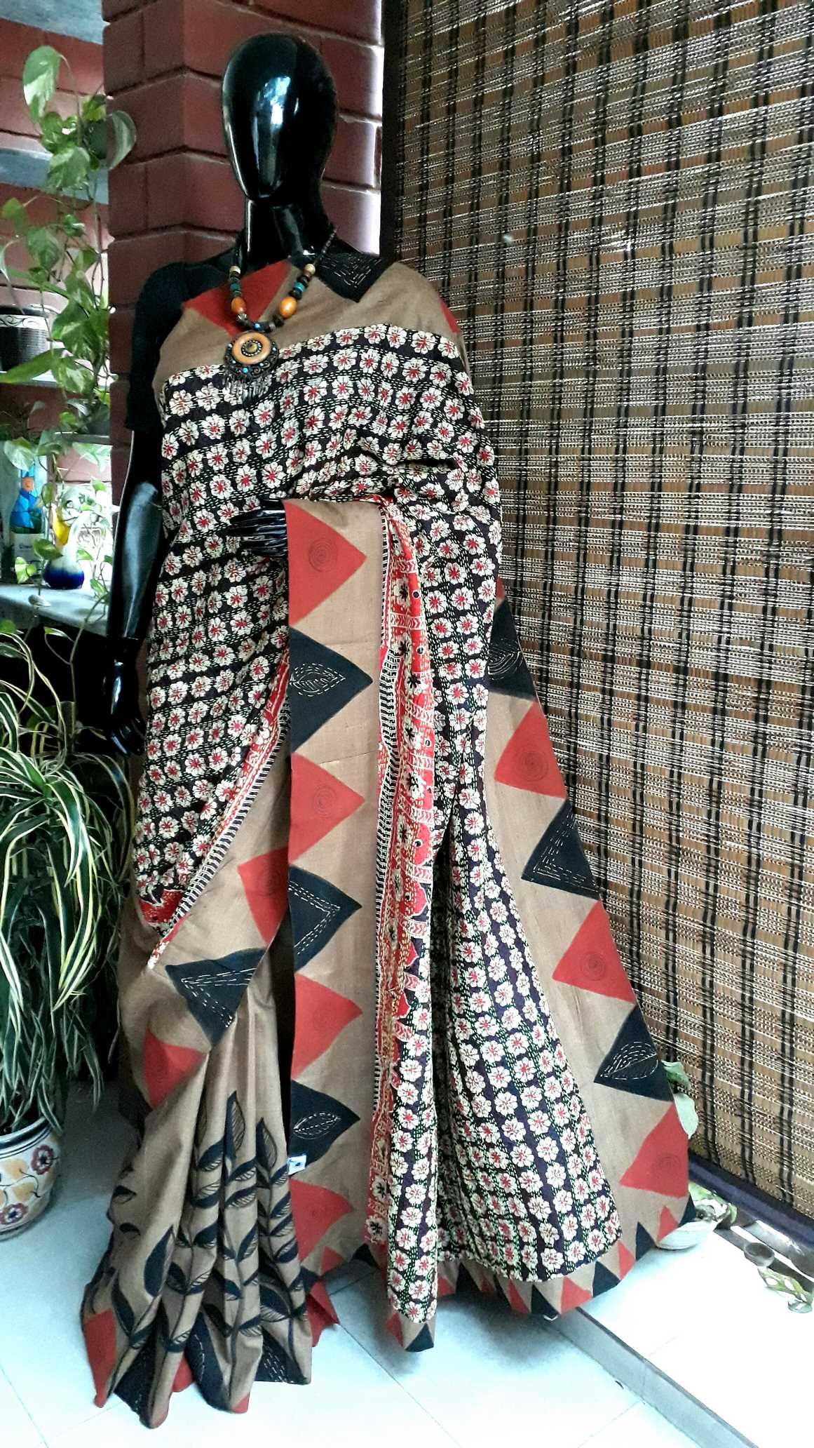 Hand crafted kantha embroidery