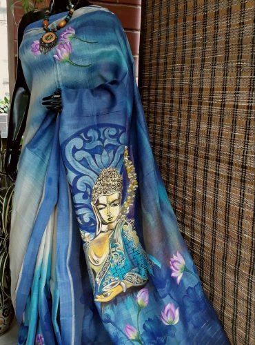 Pashmina Tussar Saree