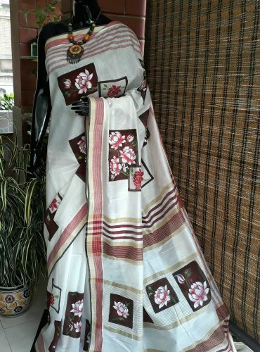 Silk cotton blend saree