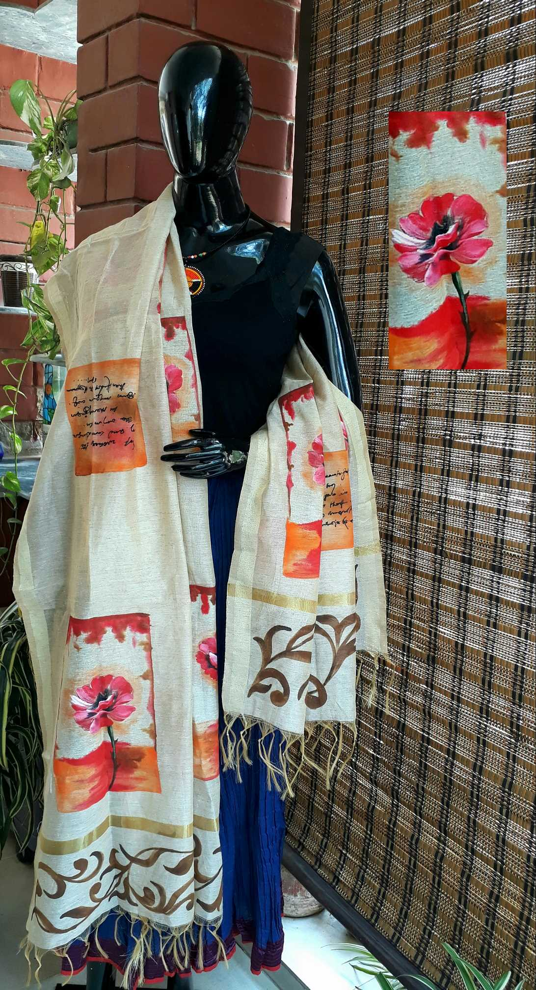Abstract Floral Jute Chanderi_web